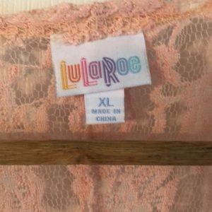 LuLaRoe Tops - Lularoe Lace Duster (worn once) XL